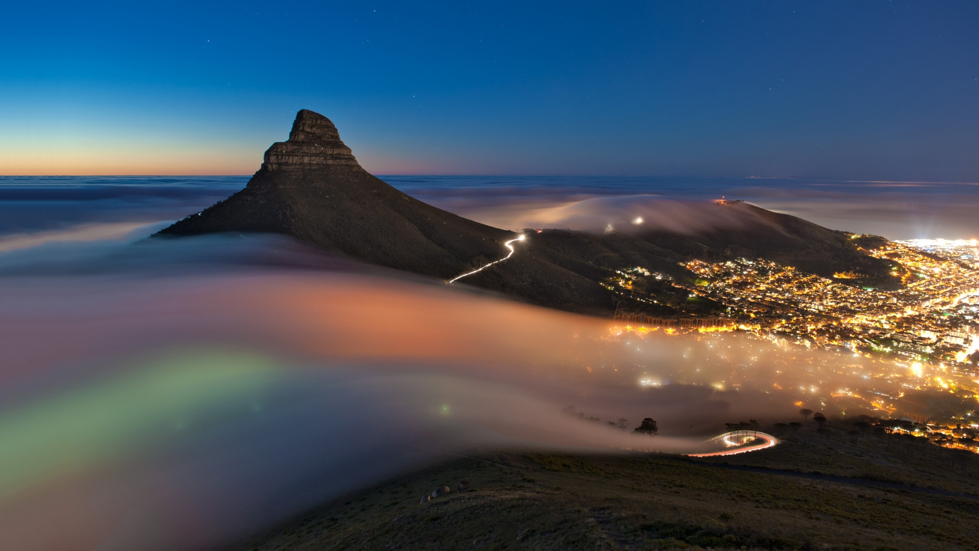cape town night picture