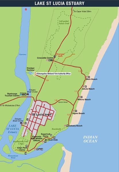 iSimangaliso Wetland Park Map