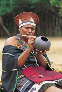 zulu woman in traditional wear